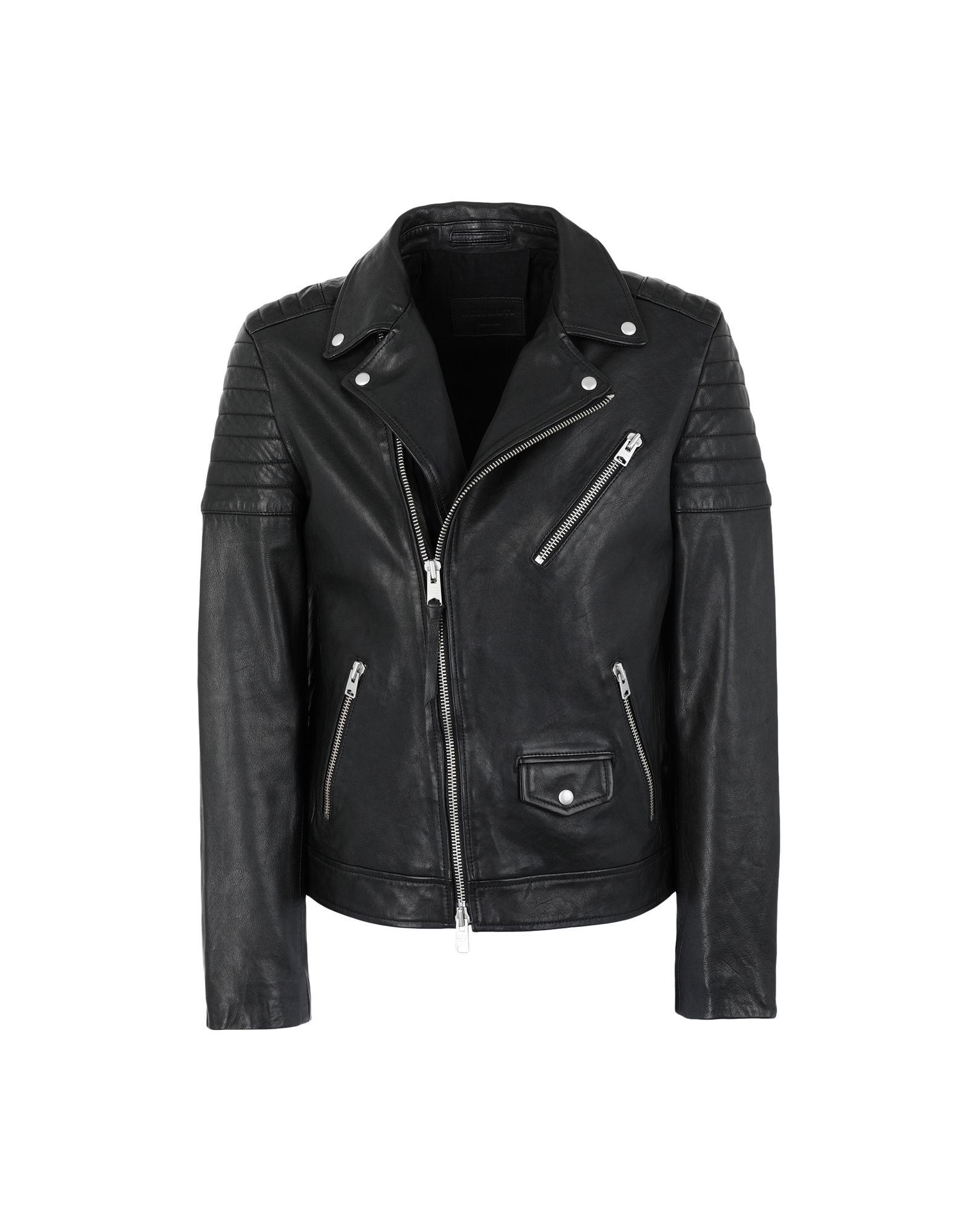 e99d4c03f1c Allsaints Leo Biker - Biker Jacket - Men Allsaints Biker Jackets ...