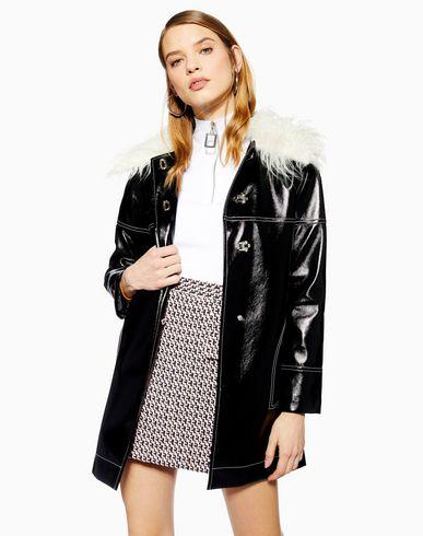 großes Sortiment großer Rabatt beste Qualität Topshop Vinyl Coat - Mantel Damen - Mäntel Topshop auf YOOX ...
