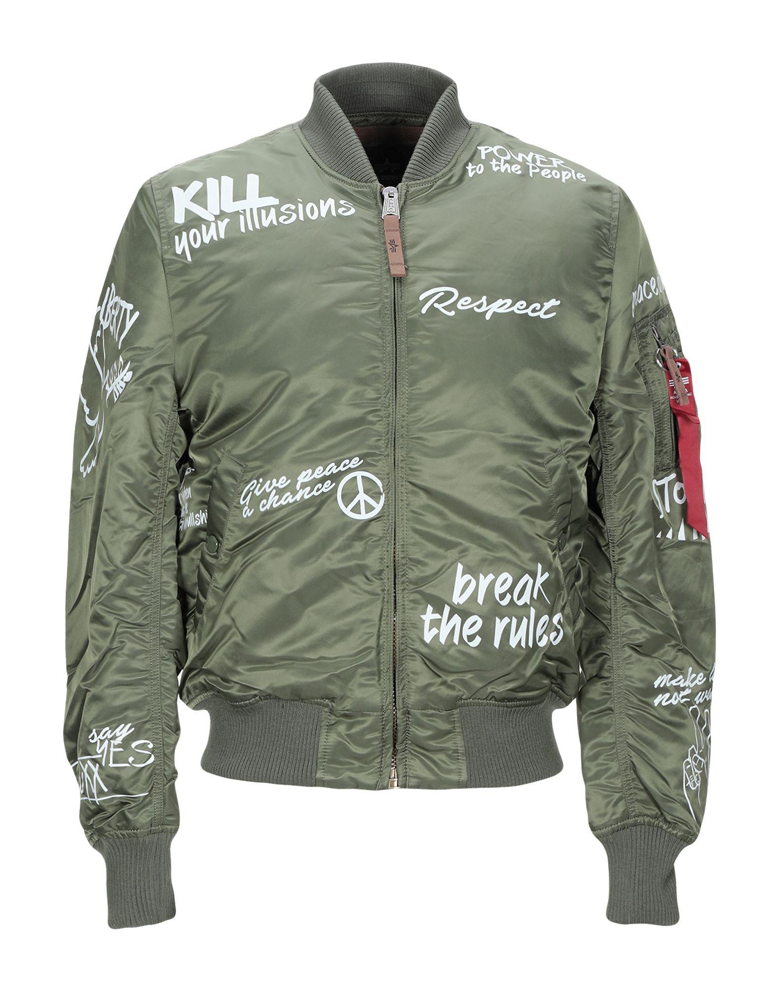 premium selection 10e4d 4de5c ALPHA INDUSTRIES INC. Bomber - Coats & Jackets   YOOX.COM