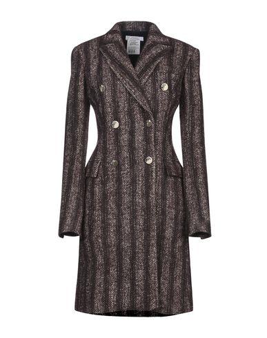 Versace Coat In Dark Brown
