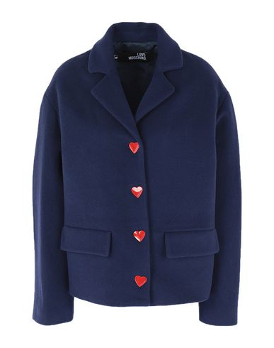 Love Moschino Coat In Blue
