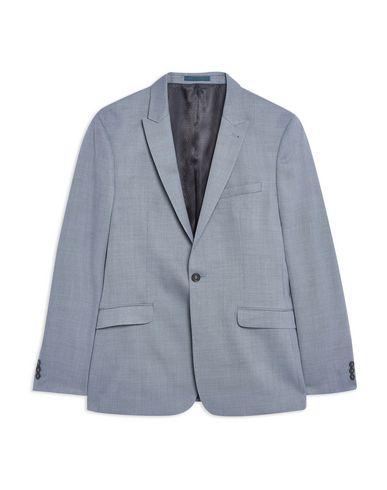 Topman Blazer In Slate Blue