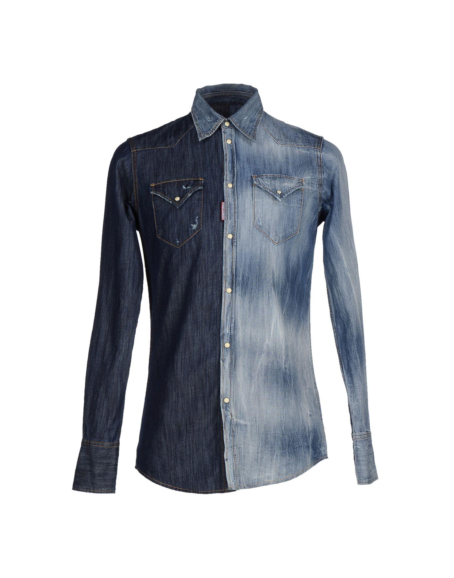 Camicia Di Jeans Dsquarot2 herren - 42471338WS