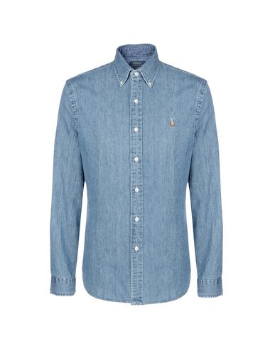 2c9f95468b013 Polo Ralph Lauren Slim Fit Denim Shirt - Denim Shirt - Men Polo ...