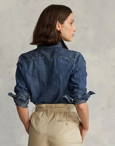 POLO RALPH LAUREN Slim Fit Denim Shirt Camisa vaquera