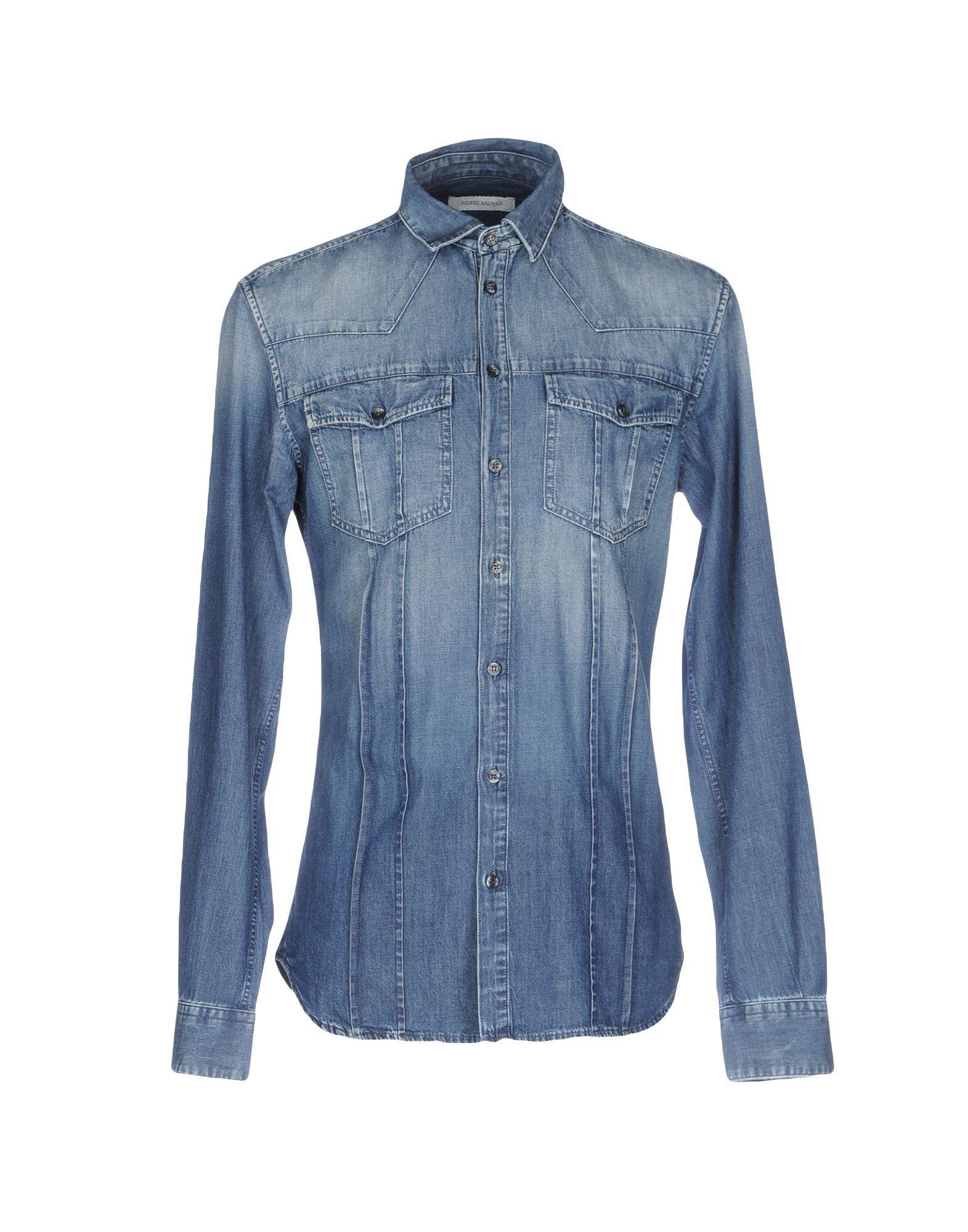 594db1ecbf Pierre Balmain Denim Shirt - Men Pierre Balmain Denim Shirts online ...