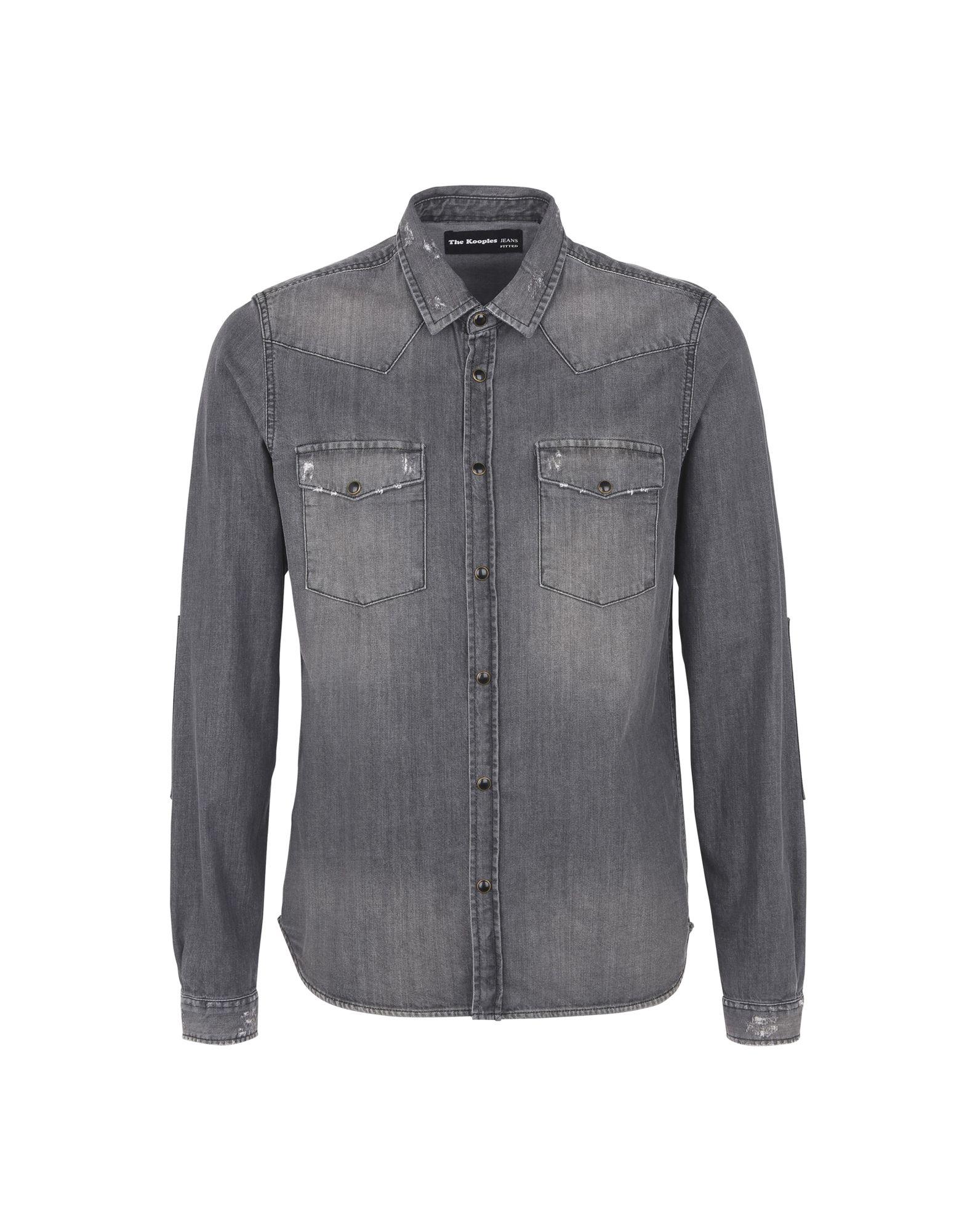 d2a531e821b The Kooples Denim Shirt - Men The Kooples Denim Shirts online on ...