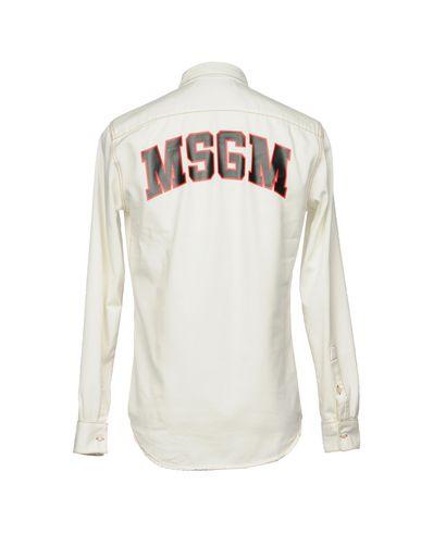 Msgm Denim Shirt se billig pris klaring beste stedet rabatt 2014 nye MeHbC