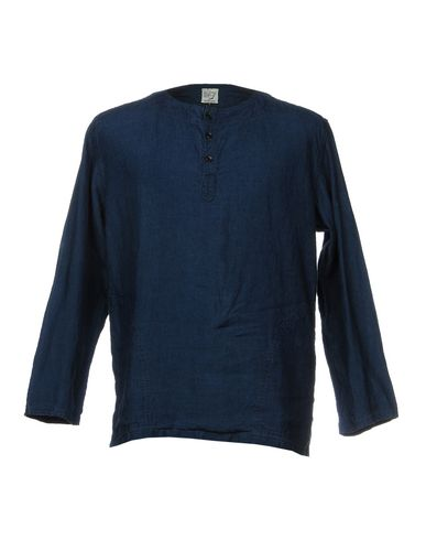 ORSLOW Linen Shirt in Blue