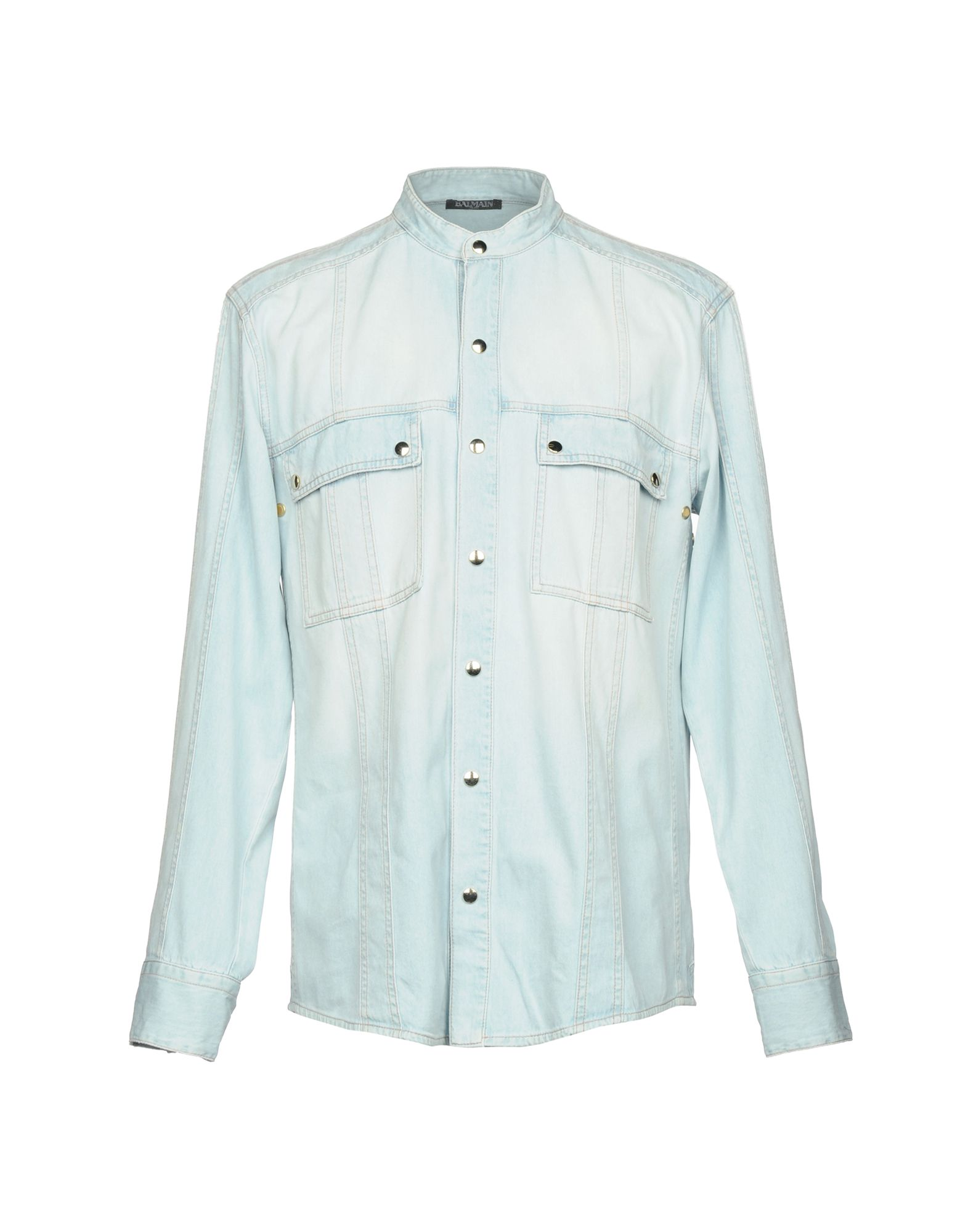 16755645 Balmain Denim Shirt - Men Balmain Denim Shirts online on YOOX United ...