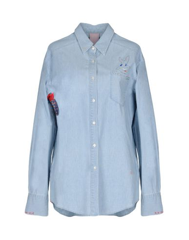 knock off rabatter billig pris (+) Mennesker Denim Shirt BLukl