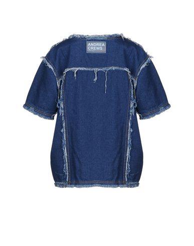 laveste pris salg geniue forhandler Andrea Crews Denim Shirt 2015 nye rabatt for billig MuMry8