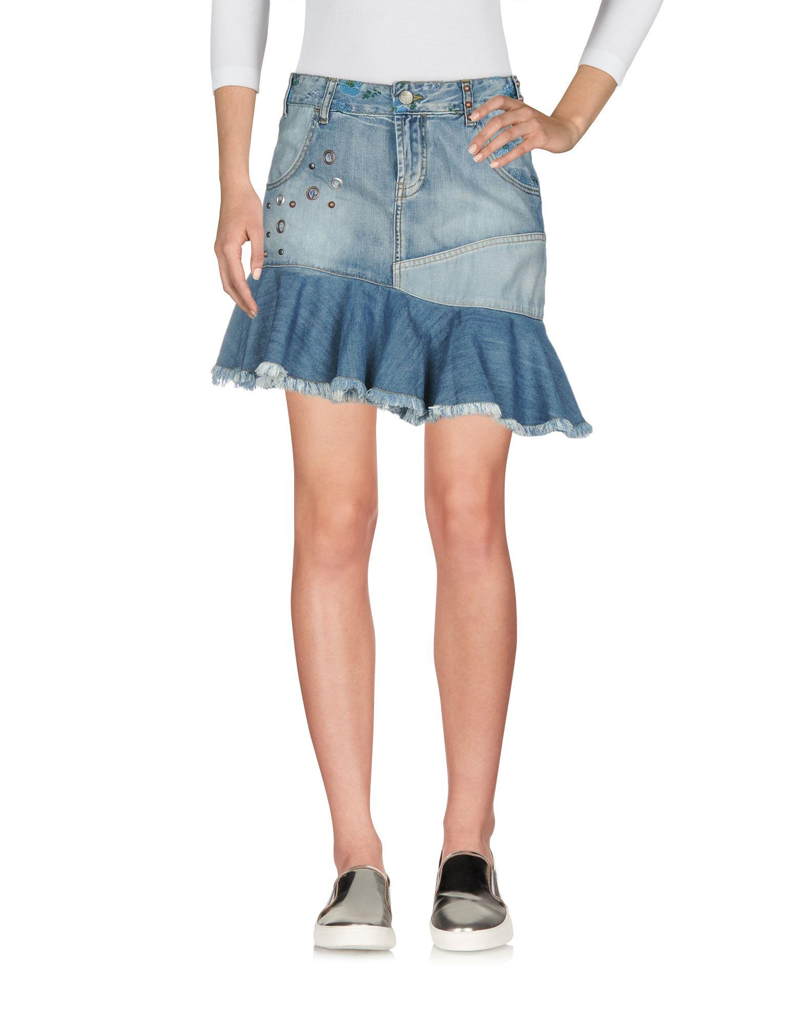 01c12090d Desigual Denim Skirt - Women Desigual Denim Skirts online on YOOX ...