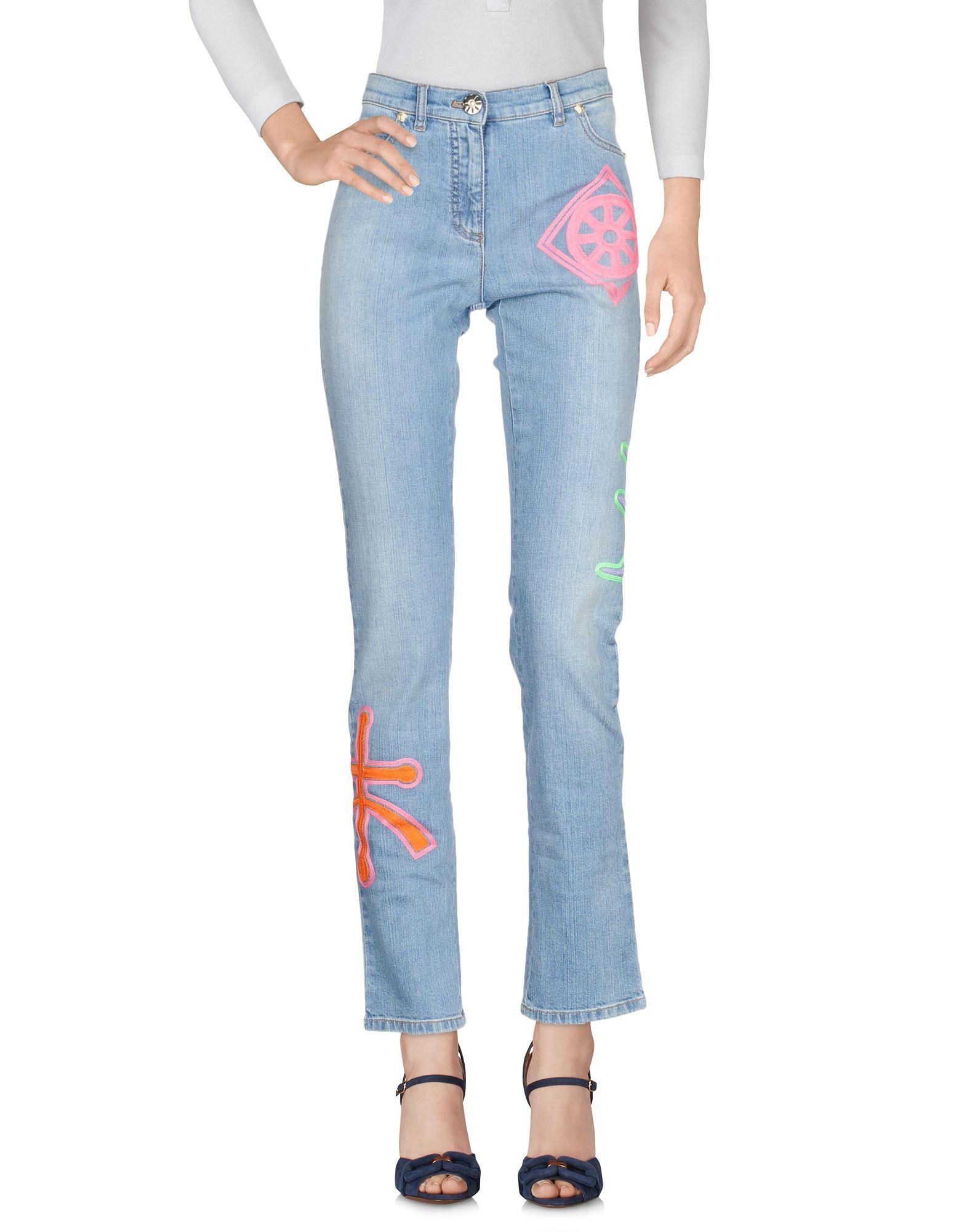 183a448e7391 Pantalon En Jean Versace Femme - Pantalons En Jean Versace sur YOOX -  42667469MB
