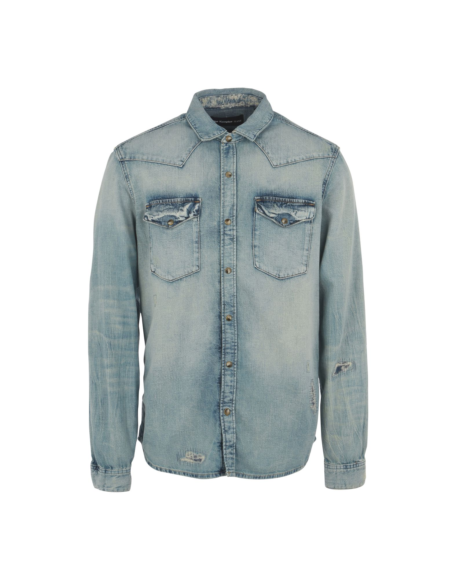 Camicia Jeans The Kooples Top-Stitched Shirt - Donna - Acquista online su