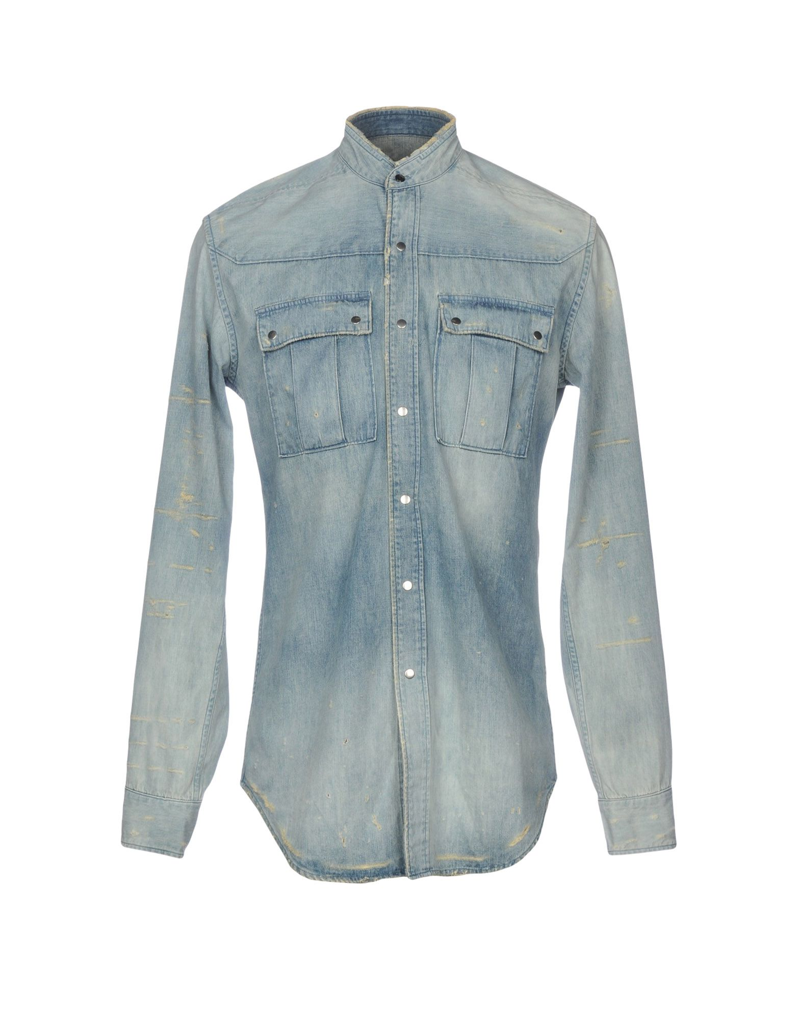 0997ccf7 Balmain Denim Shirt - Men Balmain Denim Shirts online on YOOX ...