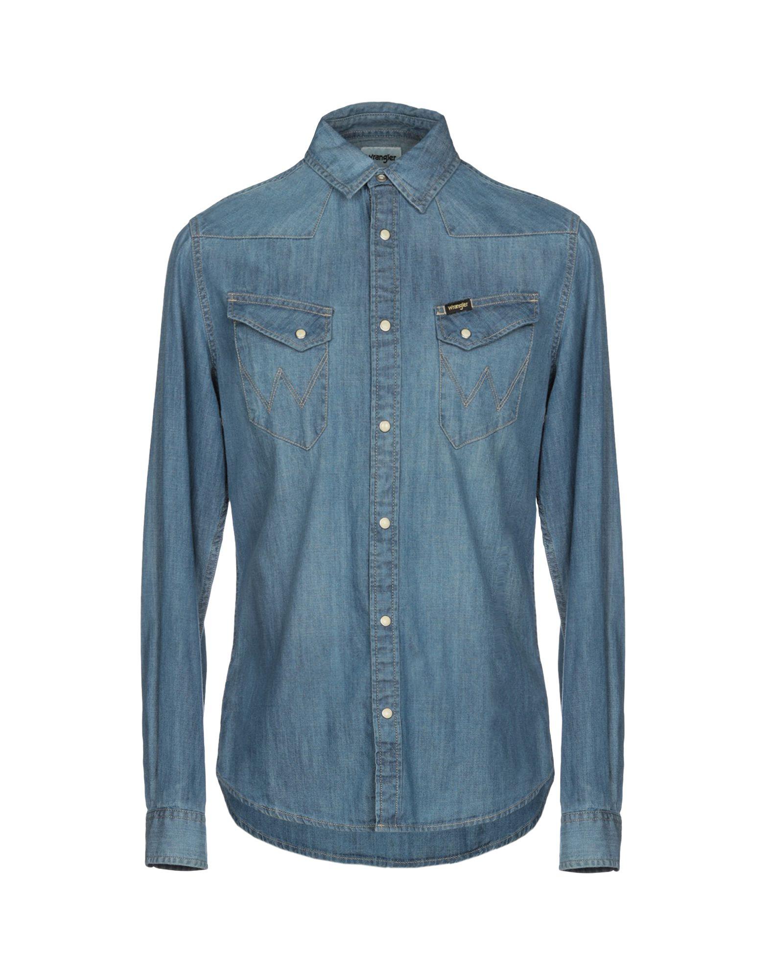958f8091 Wrangler Denim Shirt - Men Wrangler Denim Shirts online on YOOX United  States - 42692308NH