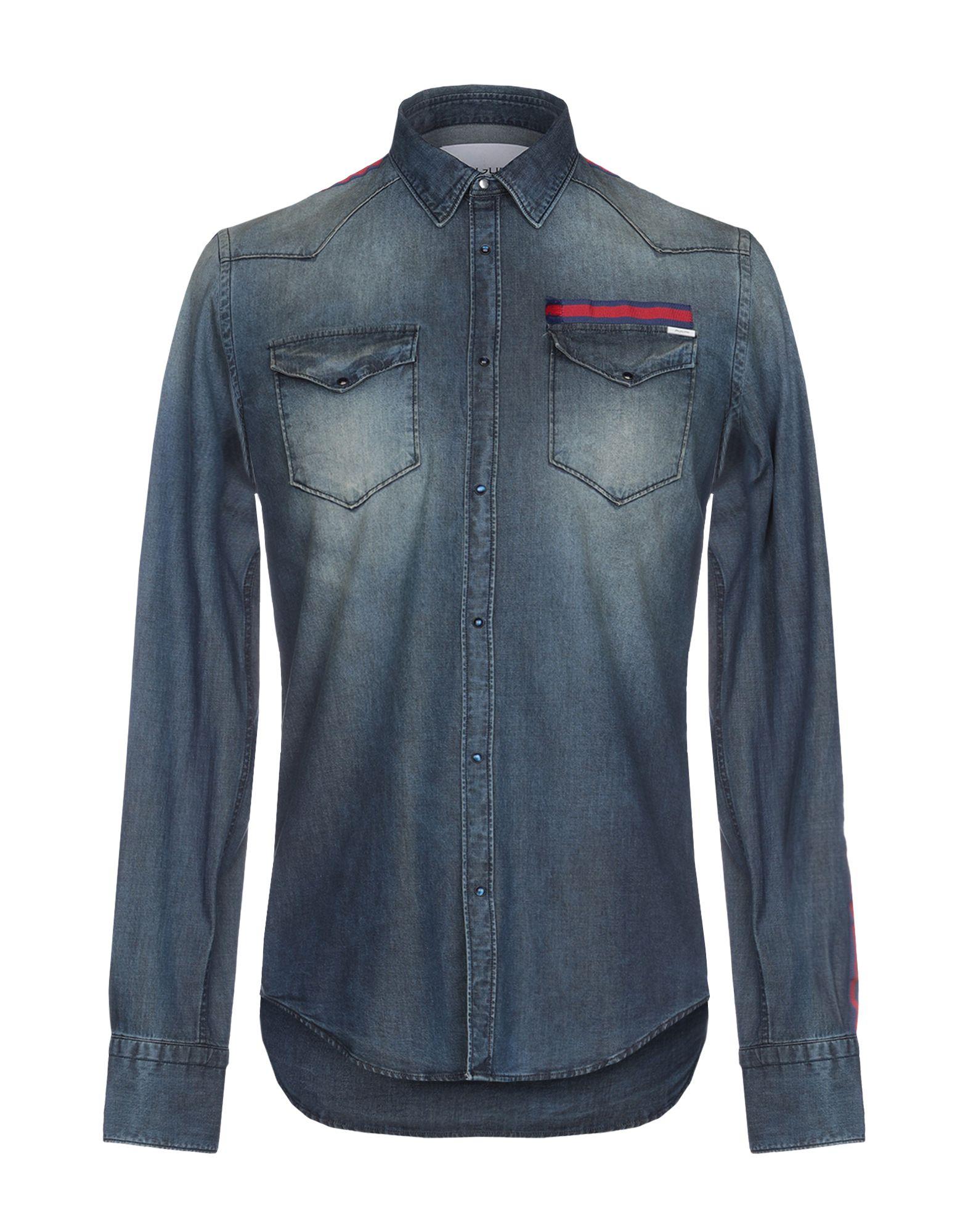 Camicia Camicia Di Jeans Aglini uomo - 42696329UD  exklusiv