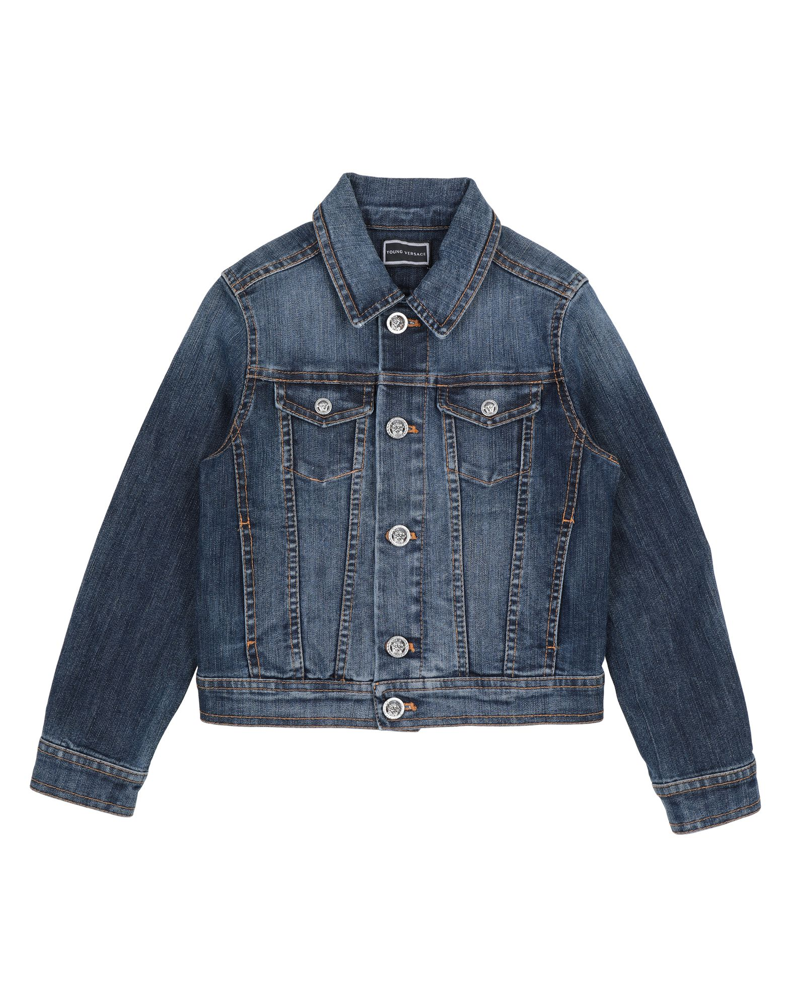 top-rated fashion ever popular how to find VERSACE YOUNG Denim jacket - Jeans and Denim   YOOX.COM