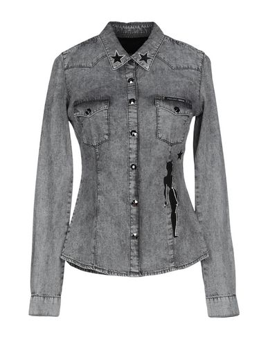 b82a07d452 Philipp Plein Denim Shirt - Women Philipp Plein Denim Shirts online ...
