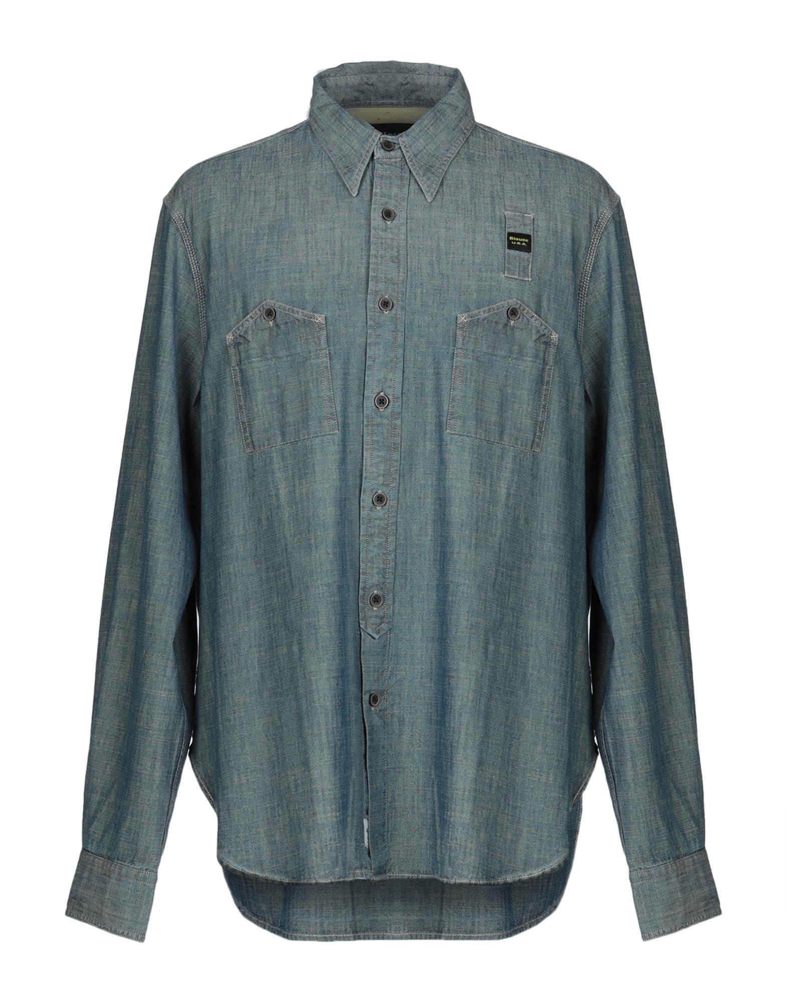 Camicia Di Jeans Blauer herren - 42709560DW
