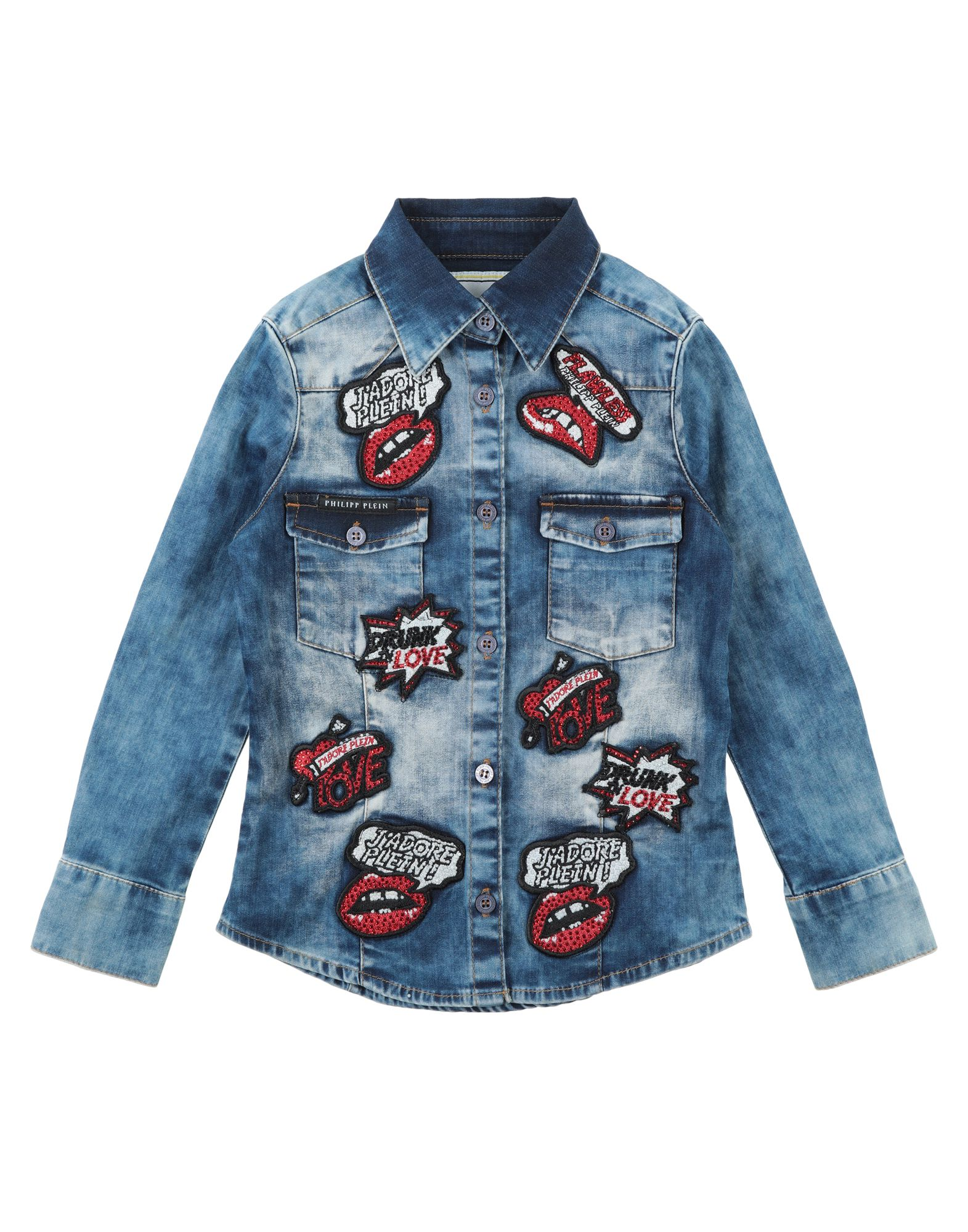 433f6a8251 Philipp Plein Denim Shirt Girl 3-8 years online on YOOX Finland