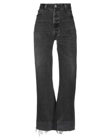 Re/done By Levi's Denim Pants In Steel Grey