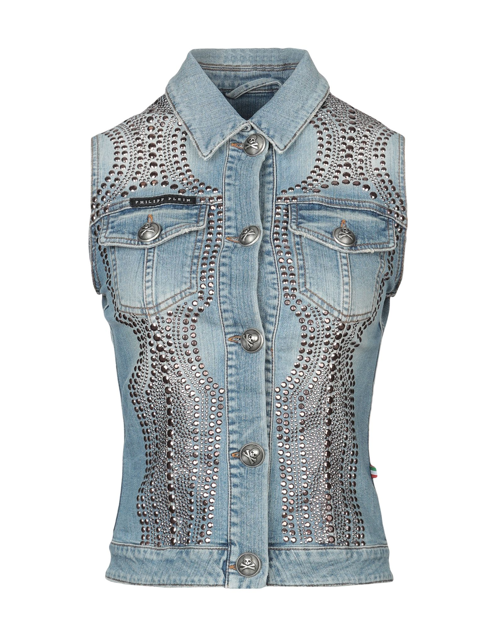 36d28c0909 Philipp Plein Denim Jacket - Women Philipp Plein Denim Jackets online on  YOOX United States - 42726052UK