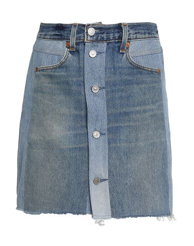 Re/done By Levi's Denim Skirt In Blue