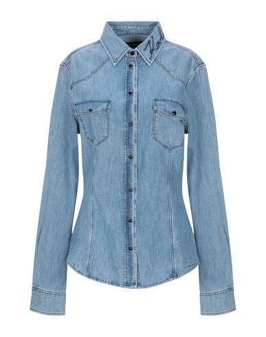 Karl Lagerfeld Cotton Denim Shirt In Blue