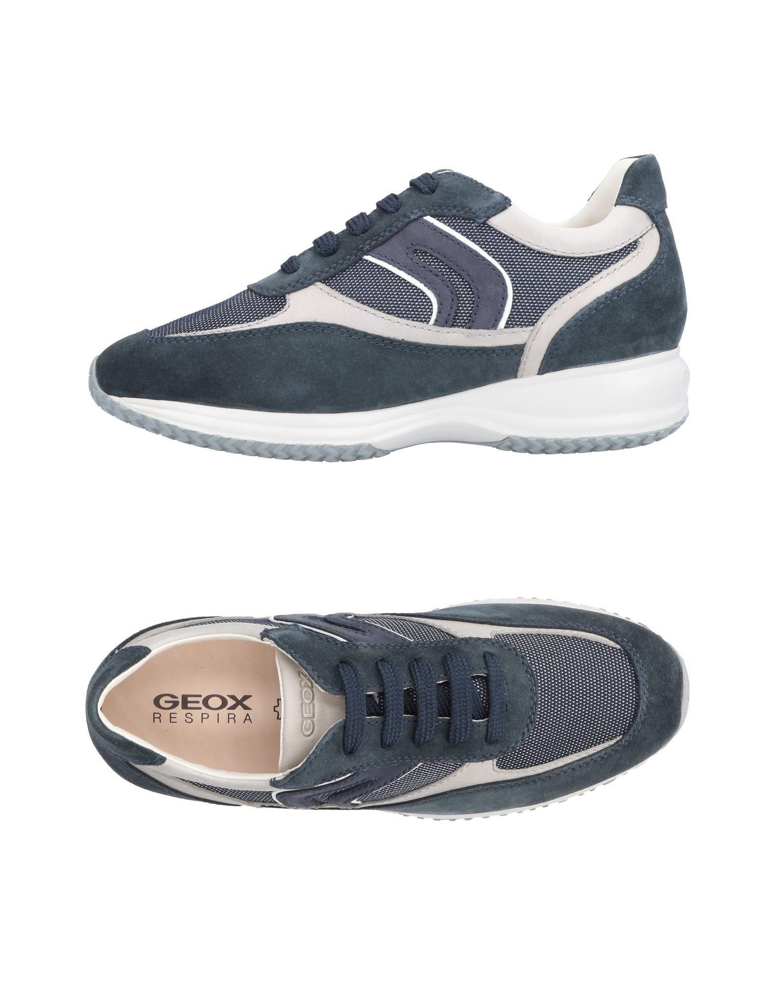 Sneakers Geox Homme - Sneakers Geox  Vert pétrole Dernières chaussures discount pour hommes et femmes