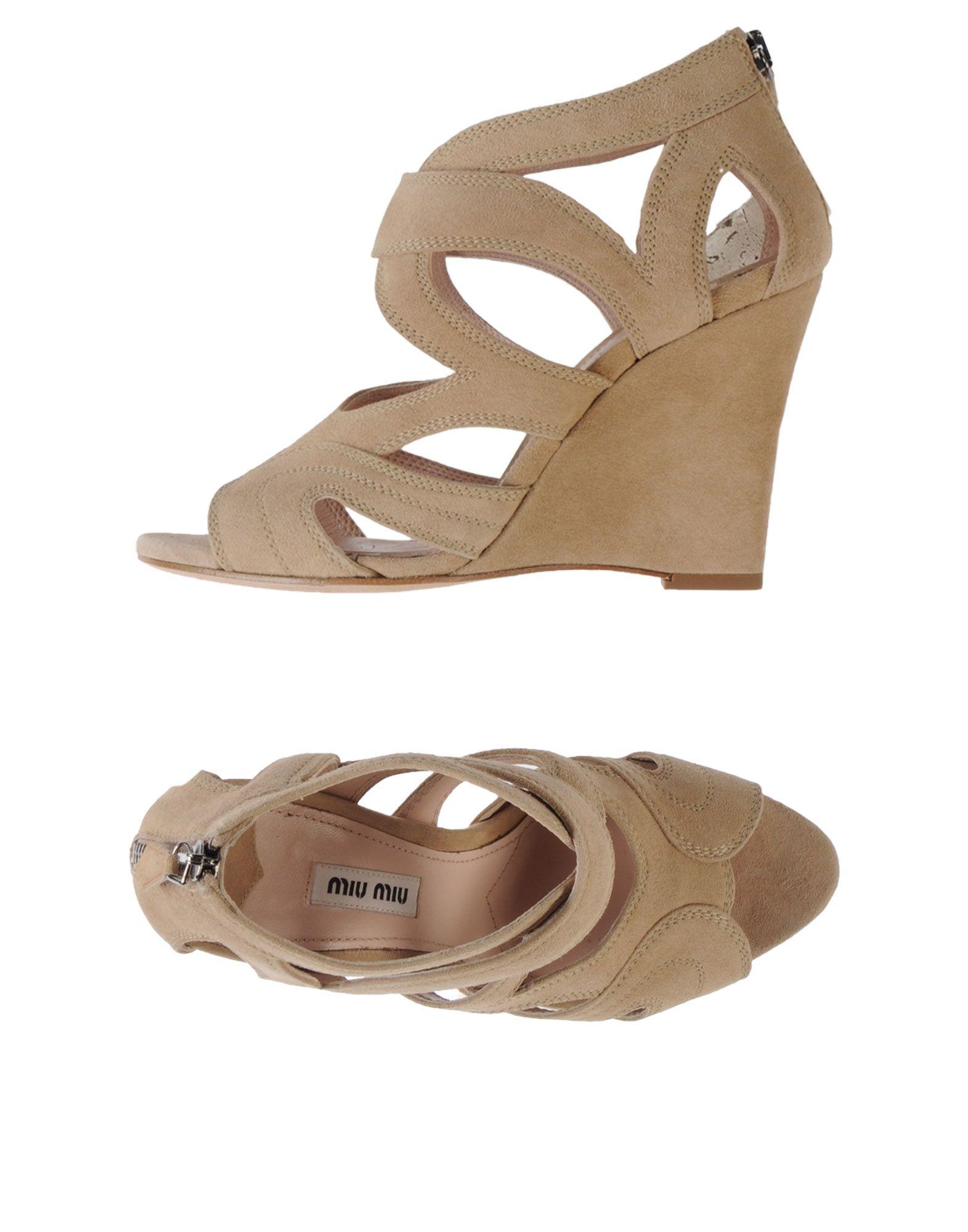 Miu Miu Sandalen Damen  44754885EQGünstige gut aussehende Schuhe