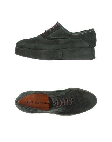PONS QUINTANA Laced Shoes in Dark Green