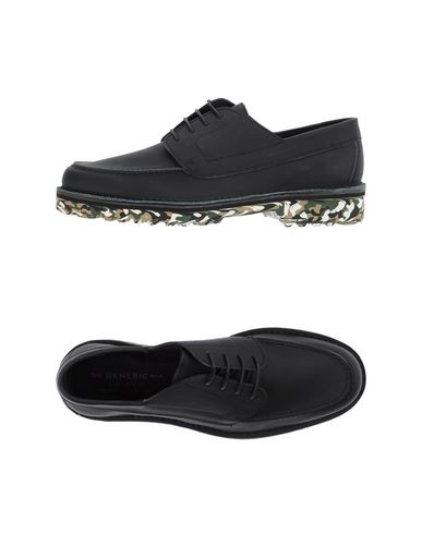 THE GENERIC MAN Laced Shoes in Black