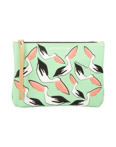 LEO Light STUDIO CLUTCH DESIGN Handbag SS17 Pellicano 010 green 00xrdwq4