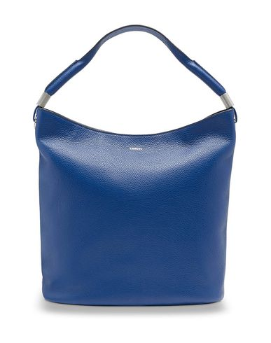 Handbag Bright LANCEL LEATHER blue GRAINED FLORE qxIqFwvtP