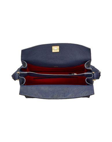 PIA Dark LEATHER LANCEL Shoulder blue bag YZd5qI