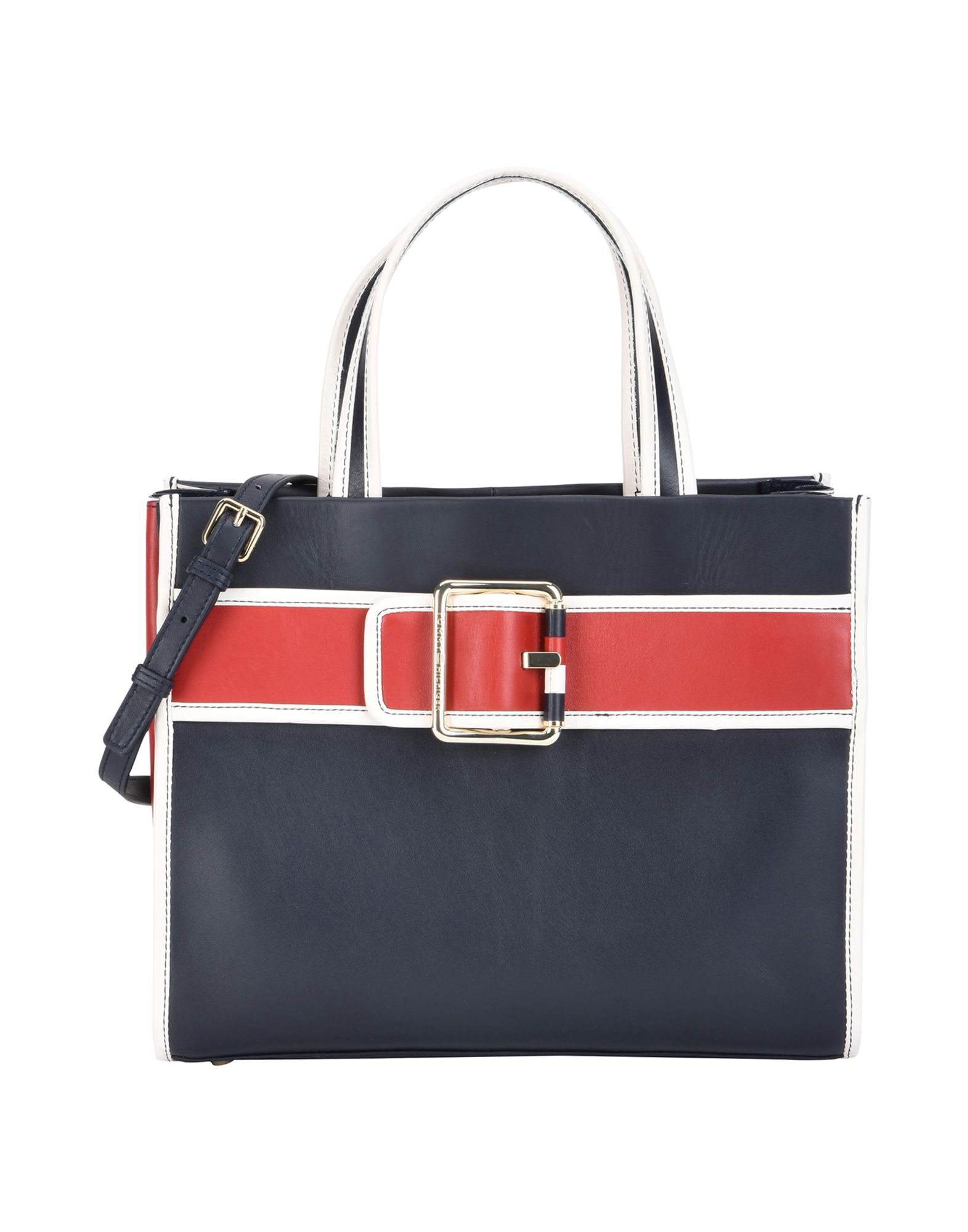 Borsa A Mano Tommy Hilfiger Tommy Buckle Leather Tote - Donna - Acquista online su