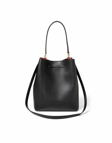 LAUREN Leather Drawstring Smooth RALPH Handbag Black LAUREN vx6rvTzwq