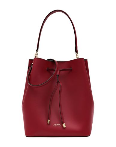 7e82ff1316ce Lauren Ralph Lauren Smooth Leather Drawstring - Handbag - Women ...