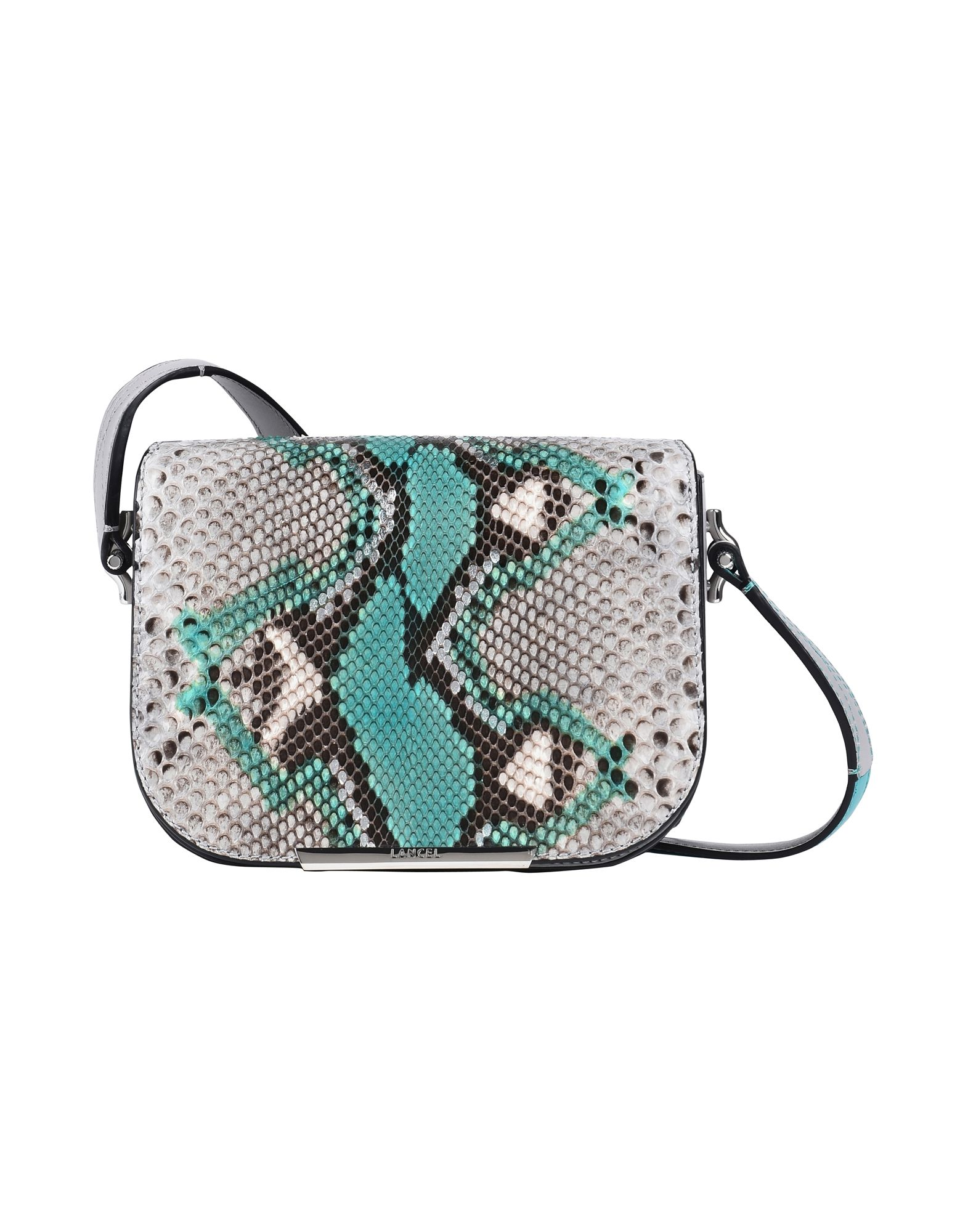 Borsa A Tracolla Lancel Bianca Painted Python/Leather/Suede - Donna - Acquista online su