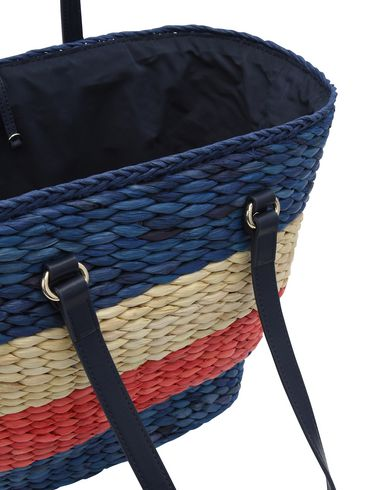 TH TOTE Blue STRAW TOMMY HILFIGER Handbag z58wxtFq