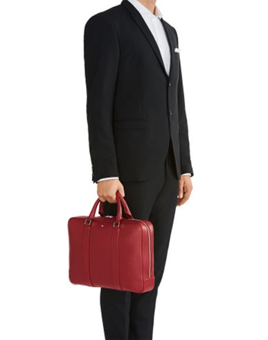 Red CASE MONTBLANC SLIM MST GRAIN RED bag DOCUMENT SOFT Work TzqIzgwpr