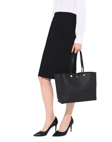 FURLA Handbag TOTE M EDEN Black ww47Pq