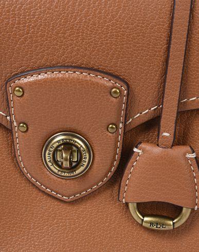 Pebbled Leather Satchel LAUREN Brown Small LAUREN RALPH Handbag nxwUCqtSZ