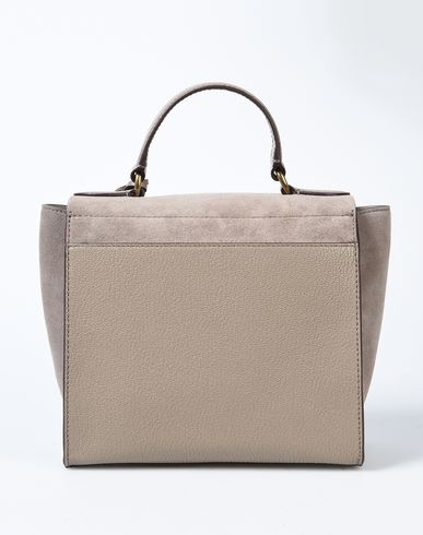 amp; Mini RALPH Handbag LAUREN LAUREN Dove Leather Suede Pebbled grey Satchel pTtRcyR