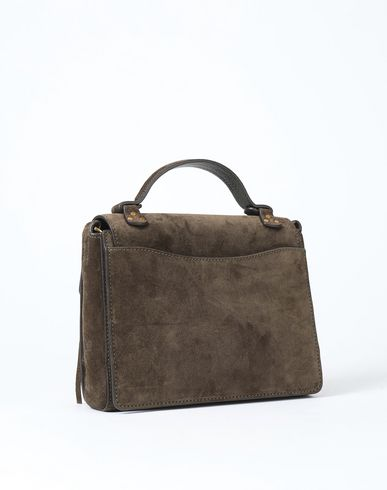 RALPH Fringe Handbag Small green POLO Military Bag Suede LAUREN aq4gxg7
