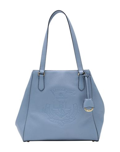Lauren Ralph Anchor Leather Tote