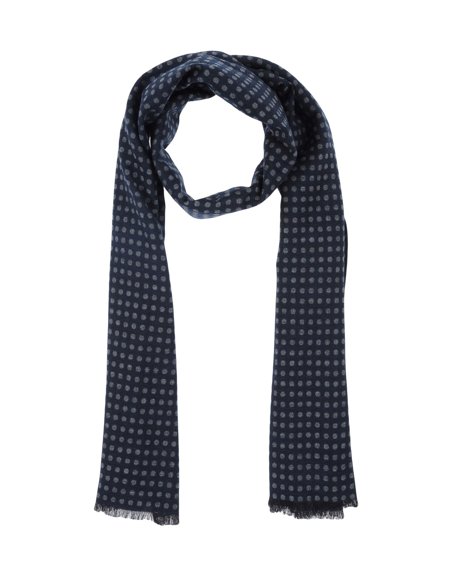 New $200 Luigi Borrelli Blue Long Scarf