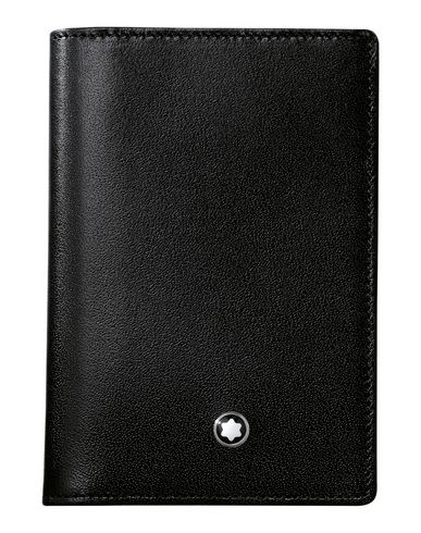 Montblanc meisterstck business card holder gusset black wallet montblanc wallet reheart Choice Image